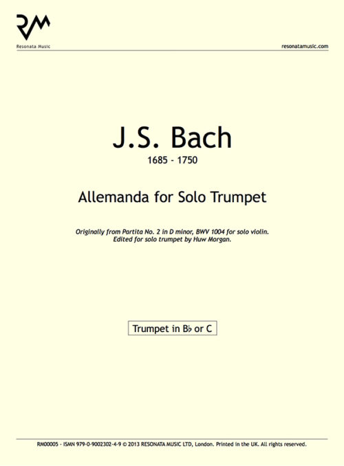 Bach - Allemanda Inner Cover