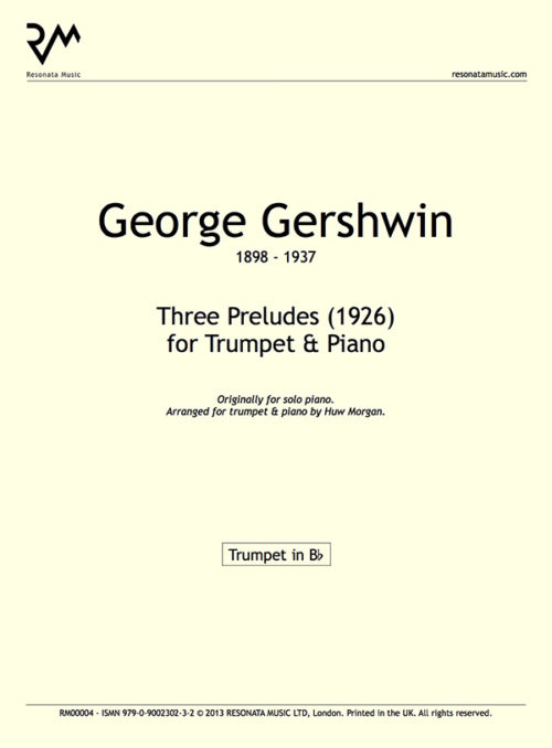 Gershwin - Three Preludes Inner Cover