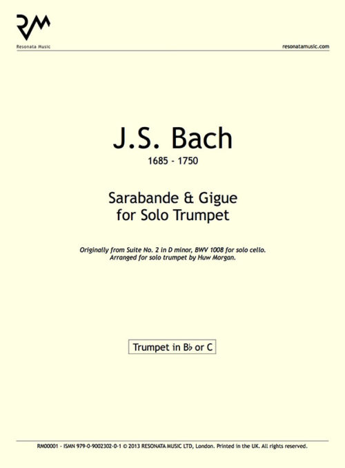 Bach - Sarabande & Gigue Inner Cover