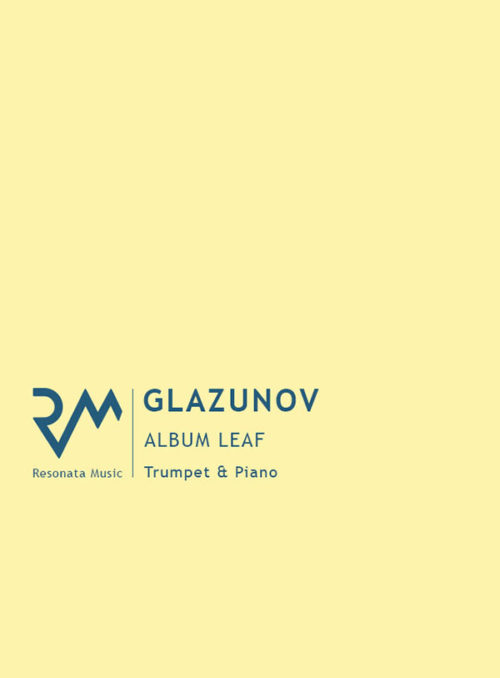 Glazunov - Album Leaf Cover