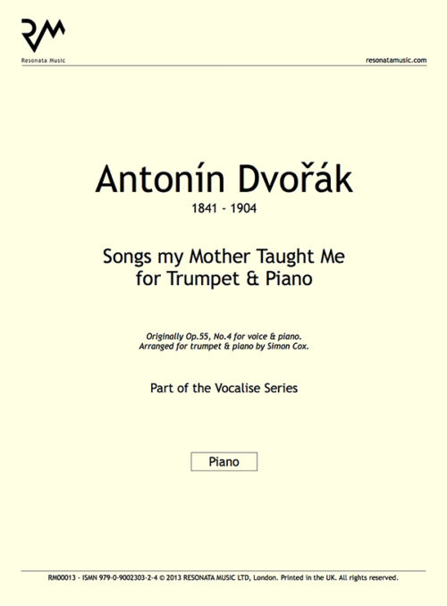 Dvorak - Songs my Mother Taught Me inner cover