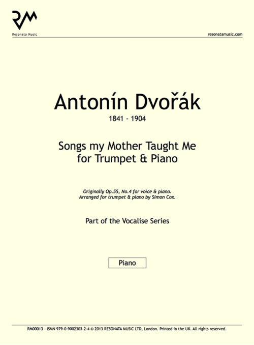 Dvorak - Songs my Mother Taught Me inner cover