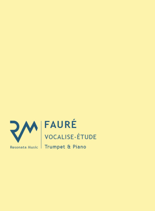 Faure - Vocalise Etude main cover