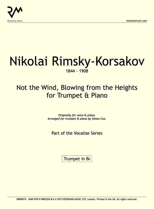 Rimsky-Korsakov Not the Wind inner cover