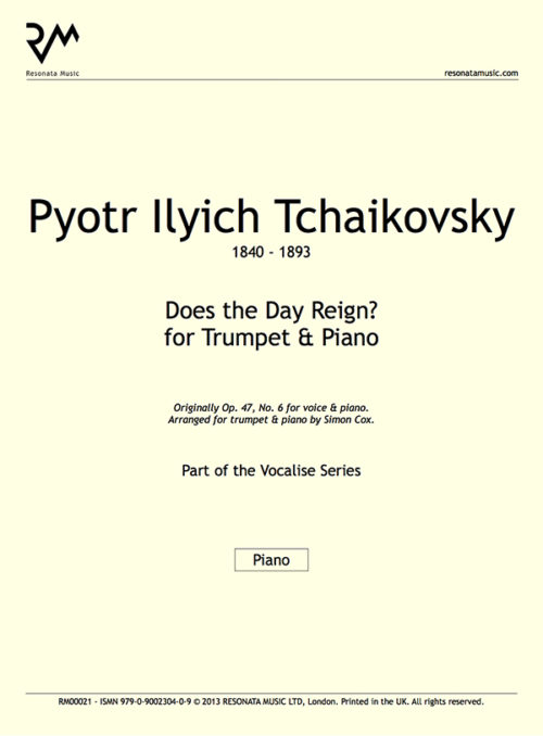 Tchaikovsky - Does the Day Reign First Page