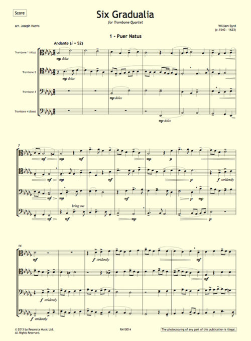 Byrd - Six Gradualia first page