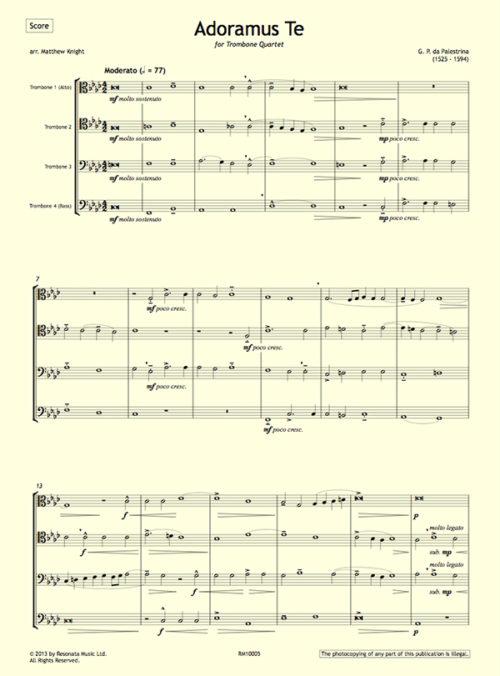 Palestrina - Adoramus Te first page