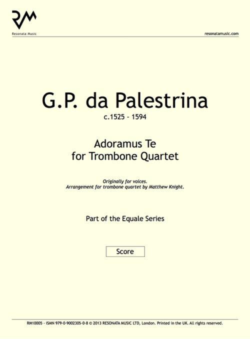 Palestrina - Adoramus Te inner cover