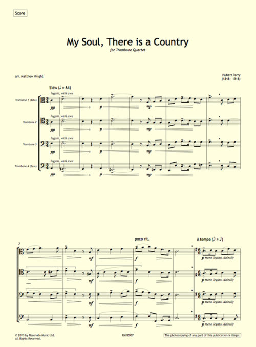 Parry - My Soul first page