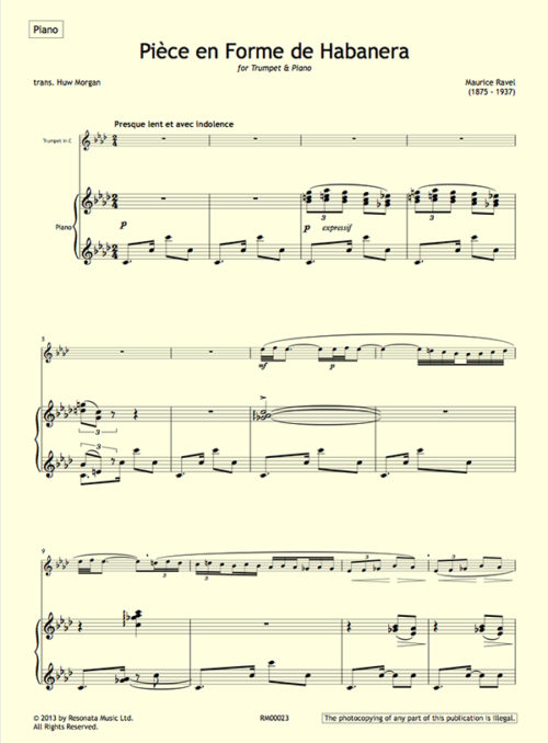 Ravel - Pièce first page