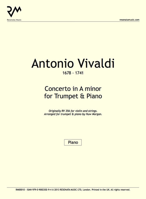 Vivaldi - Concerto A minor inner cover