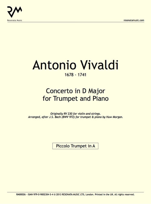 Vivaldi - Concerto D Major inner cover