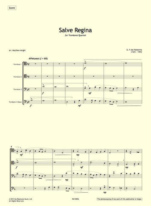 Palestrina - Salve Regina first page