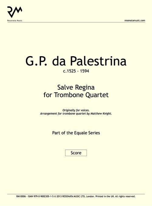 Palestrina - Salve Regina inner cover