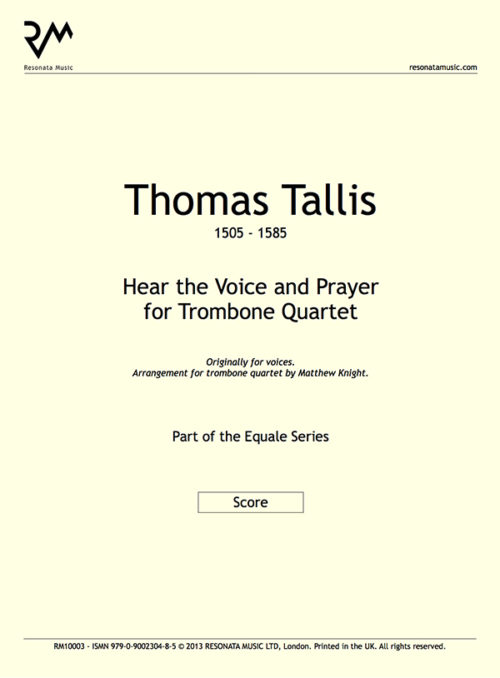 Tallis -  Hear the Voice inner cover