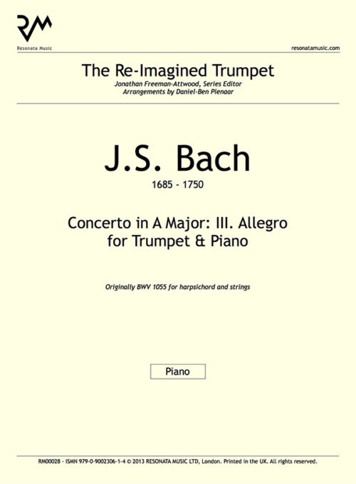 Bach - Concerto in A inner cover