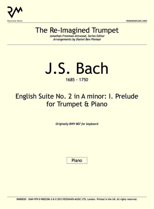 Bach - English Suite inner cover