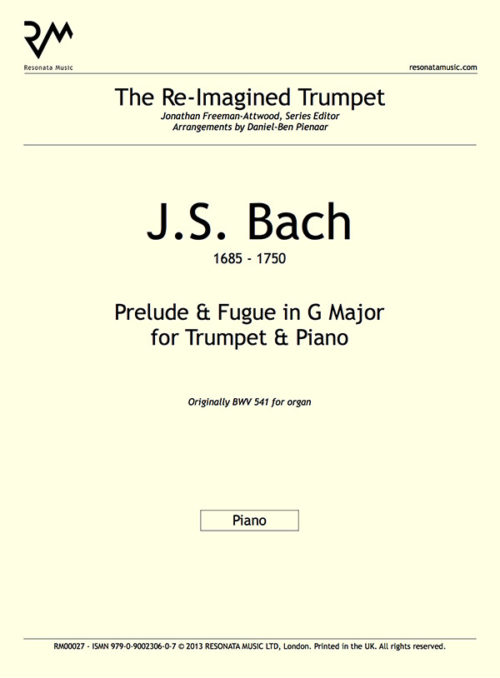 Bach - Prelude and Fugue G major inner cover