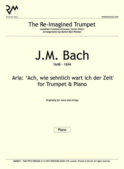 JM Bach - Ach wie sehnlich inner cover