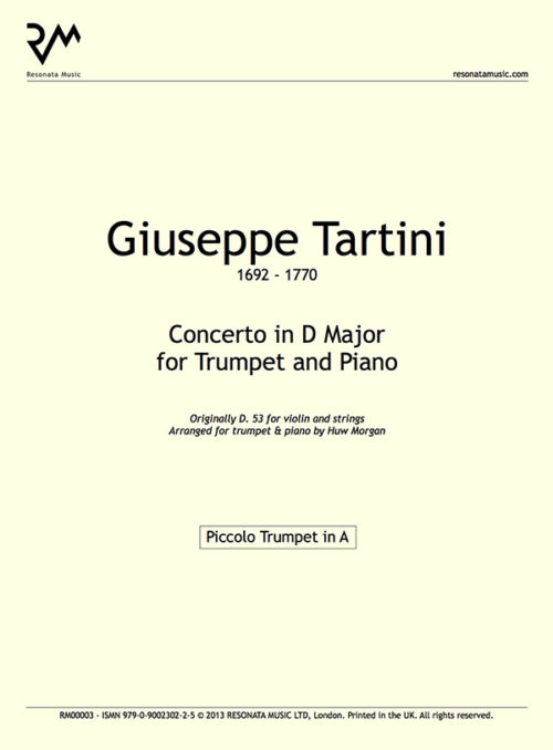 Tartini - Concerto in D inner cover