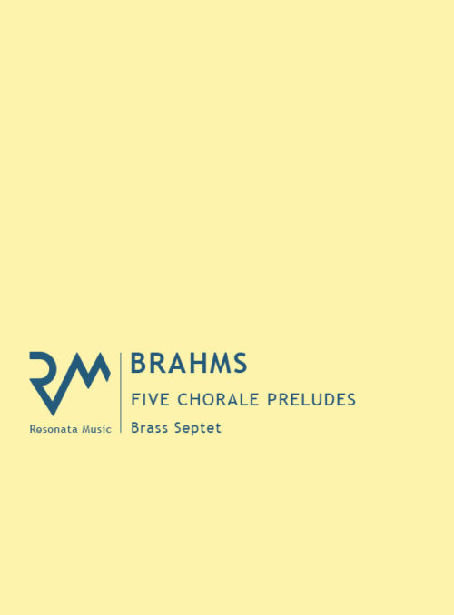 Brahms - Chorale Preludes cover