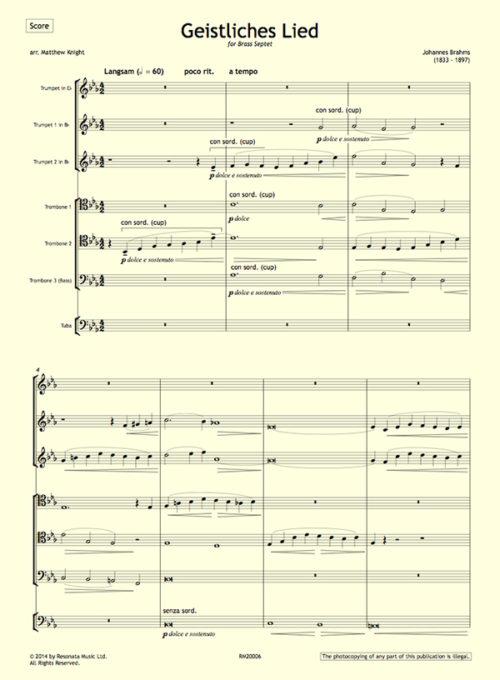 Brahms - Geistliches first page
