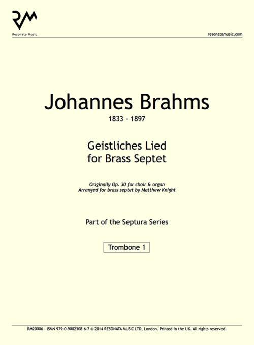 Brahms - Geistliches inner cover