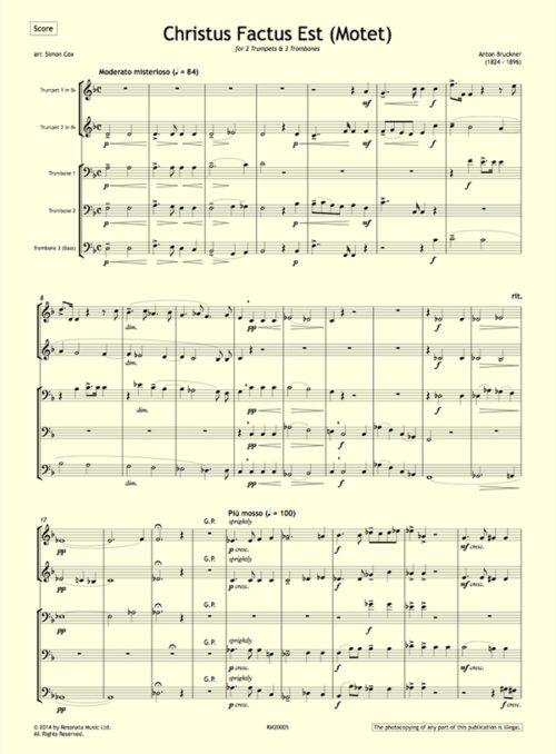 Bruckner - Christus Factus first page