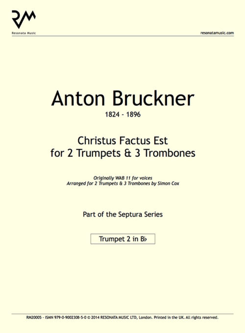 Bruckner - Christus Factus inner cover