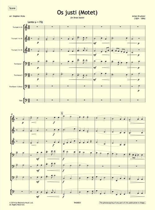 Bruckner - Os justi first page
