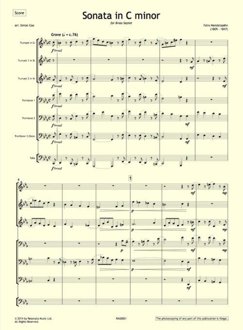 Mendelssohn - Sonata first page