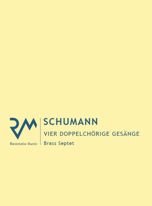 Schumann - Vier Gesange cover