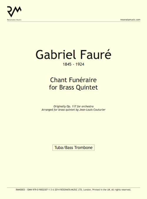 Faure - Chant inner cover