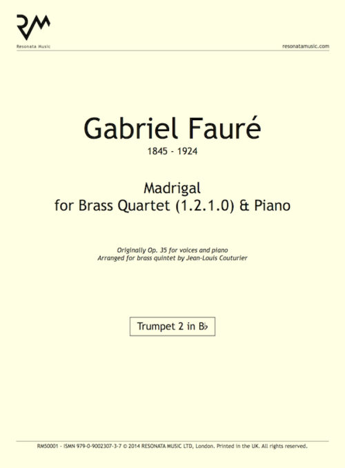 Faure - Madrigal inner cover
