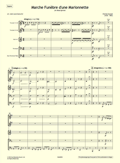 Gounod - Marche Funebre first page