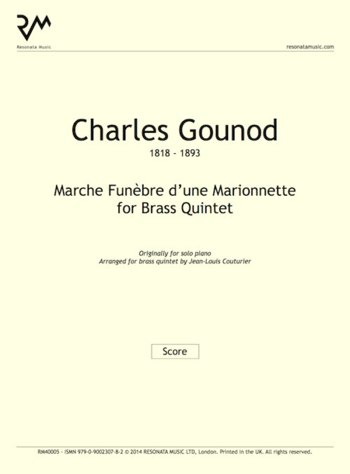 Gounod - Marche Funebre inner cover