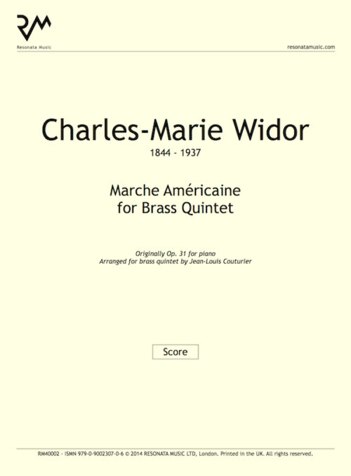 Widor - Marche inner cover