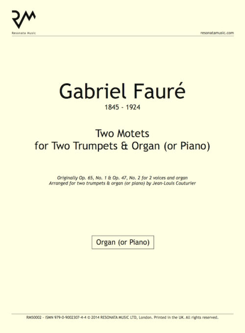 Faure - Two Motets inner cover