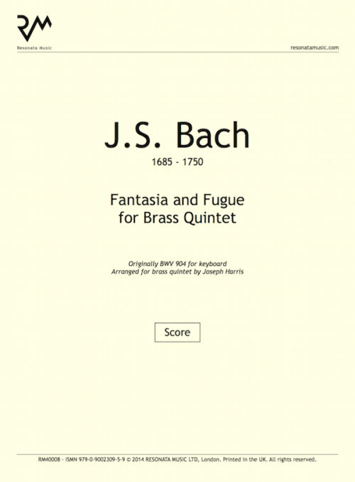 Bach - Fantasia Fugue inner cover