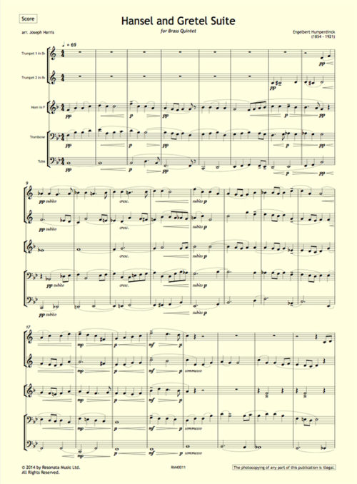 Humperdinck - Hansel and Gretel first page