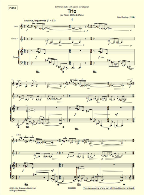 Keeley - Trio first page