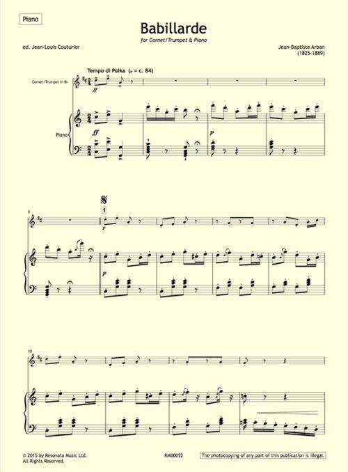 Arban - Babillarde first page