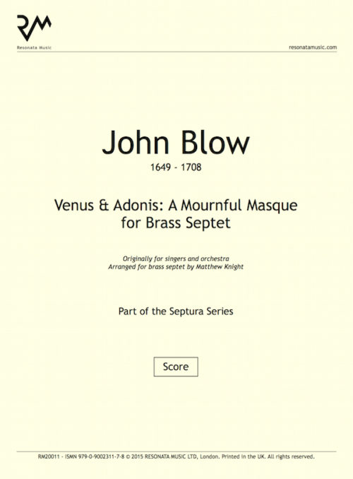 Blow - Venus and Adonis inner cover