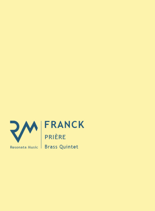 Franck - Priere cover