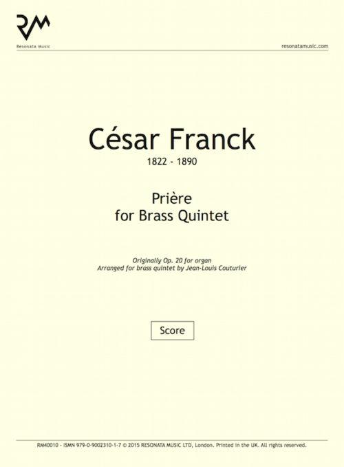 Franck - Priere inner cover