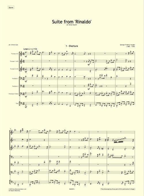 Handel - Rinaldo first page