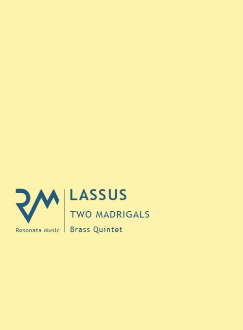 Lassus - Two Madrigals cover