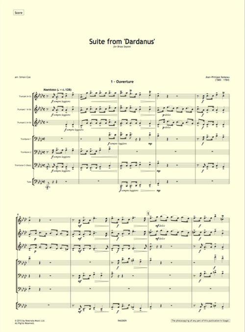 Rameau - Dardanus first page