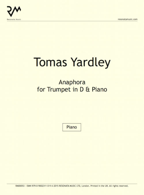 Yardley - Anaphora inner cover
