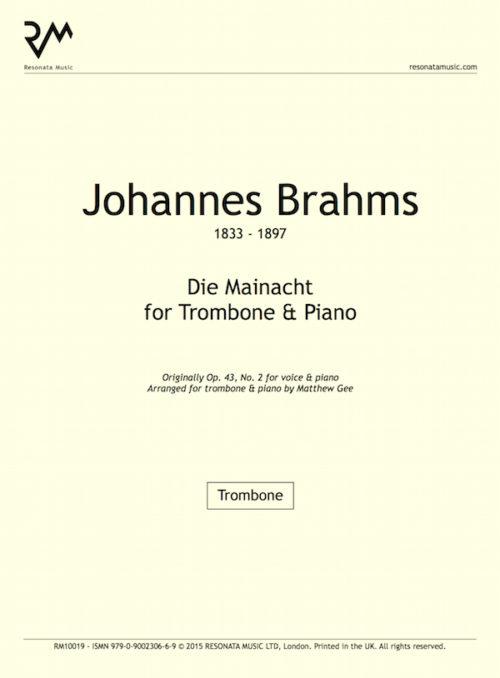 Brahms - Die Mainacht inner cover